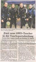 TSV Mainburg - Tauchsport - Presse